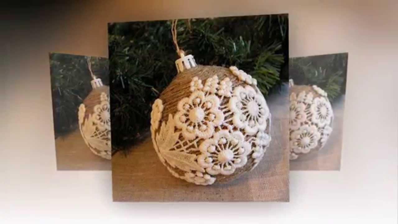 Декор новогодних шаров своими руками