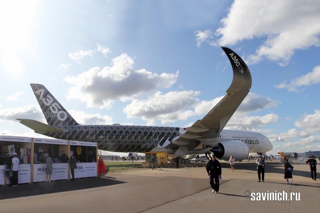 Airbus А350 XWB на МАКСе-2019 в Жуковском