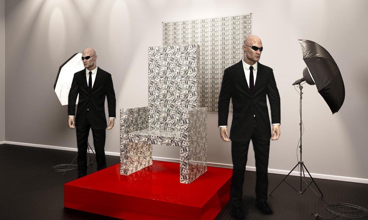 Презентация «Денежного трона» с миллионом долларов
