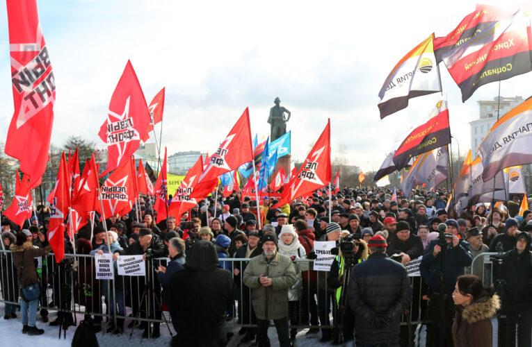 В Москве прошел митинг за референдум по поправкам в Конституцию