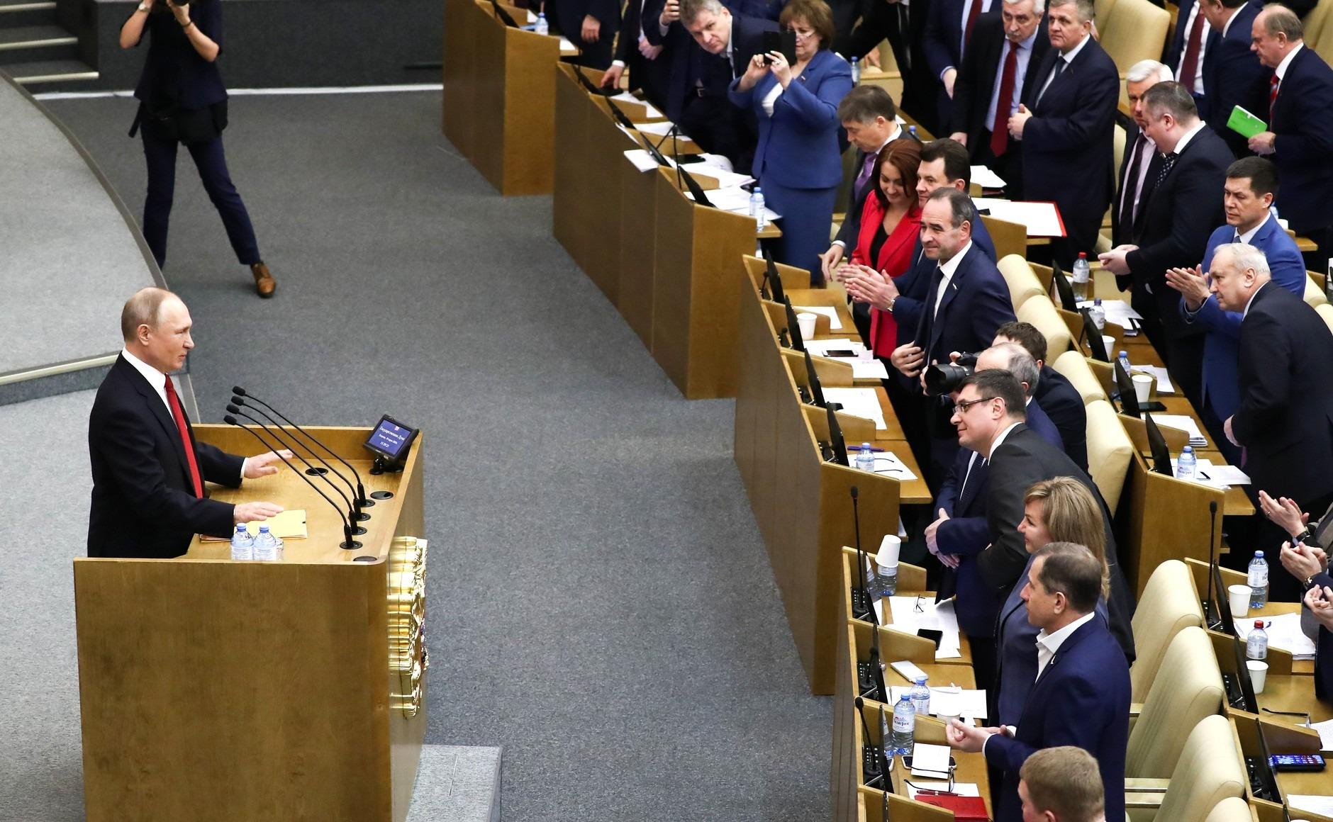 Полный текст выступления президента РФ Владимира Путина в Госдуме 10 марта 2020 года