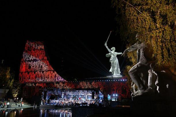 На Мамаевом кургане прошёл концерт Победы