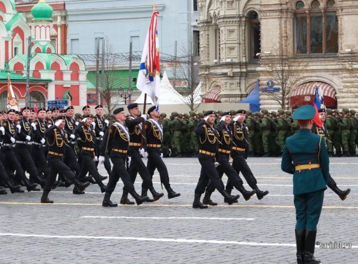 Парад Победы 2021. 61 бригада морской пехоты северного флота
