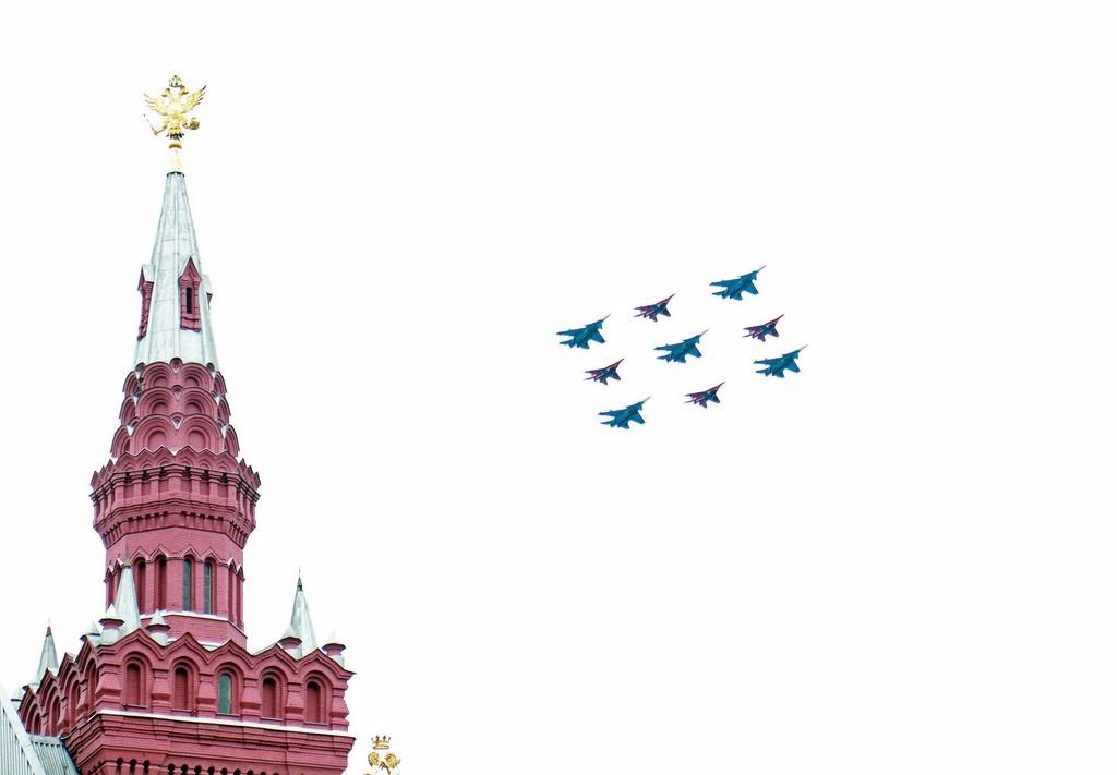 Парад Победы 2021. Воздушная часть парада