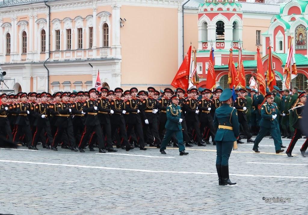 Парад Победы 2021. Москва. Московское суворовское военное училище