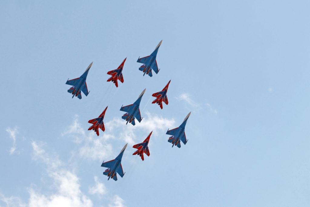 Демонстрационные полеты на МАКС 2021 (День открытия)